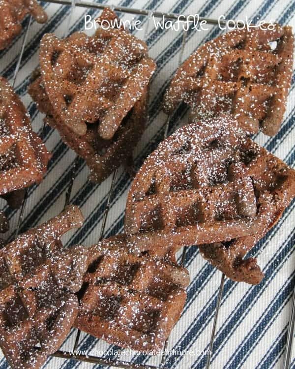 Brownie Waffle Cookies