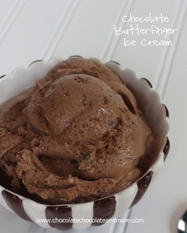 Chocolate Butterfinger Ice Cream
