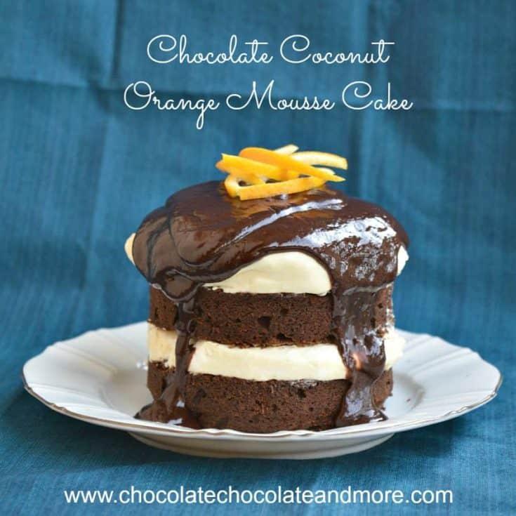 Chocolate Coconut Orange Mousse Cake
