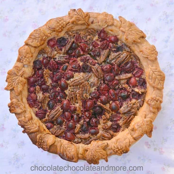 Cranberry Chocolate Pecan Pie