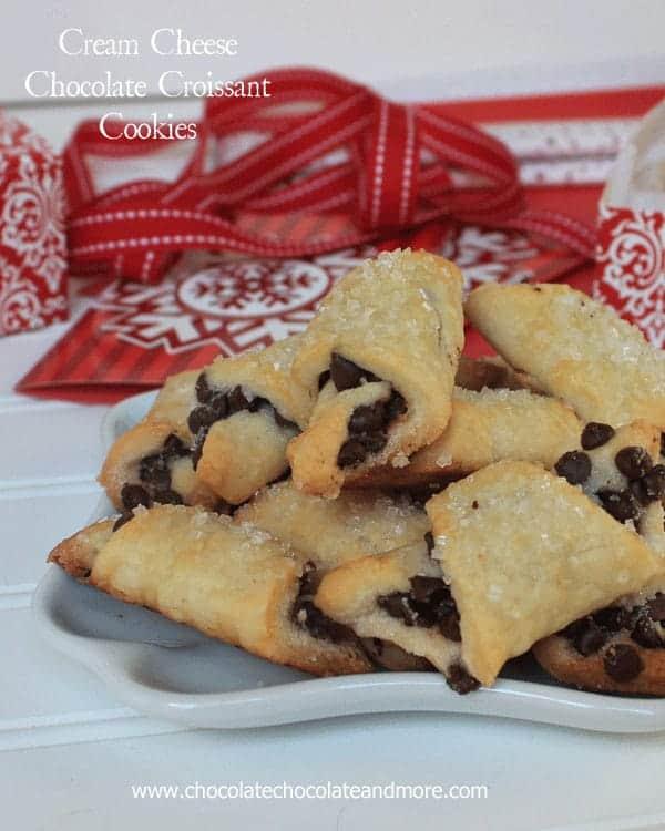 Cream Cheese Chocolate Croissant Cookies