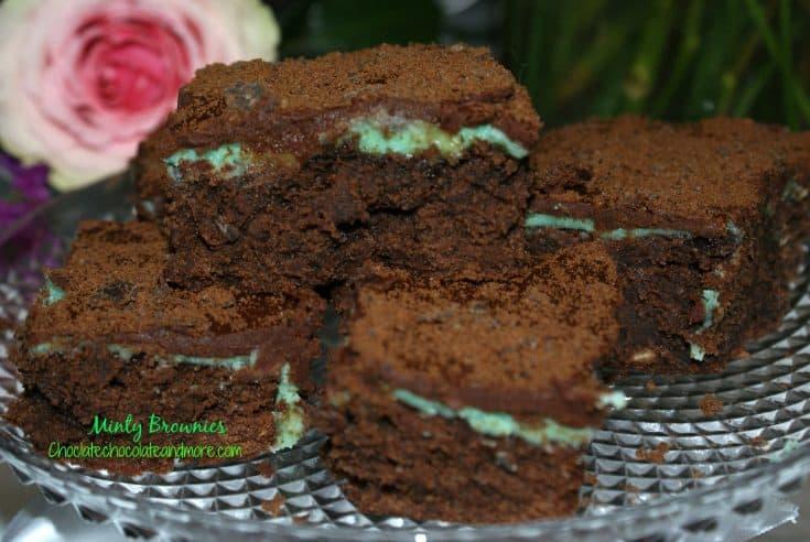Creme de Menthe Thin Mint Brownies