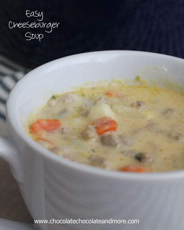 Easy Cheeseburger Soup
