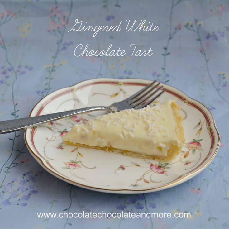 Gingered White Chocolate Tart