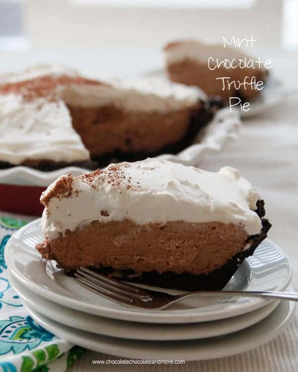 Mint Chocolate Truffle Pie