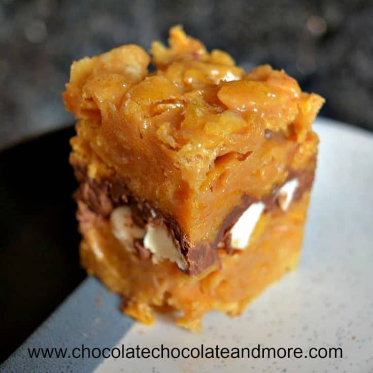 Peanut Butter Corn Flake S'mores Bars