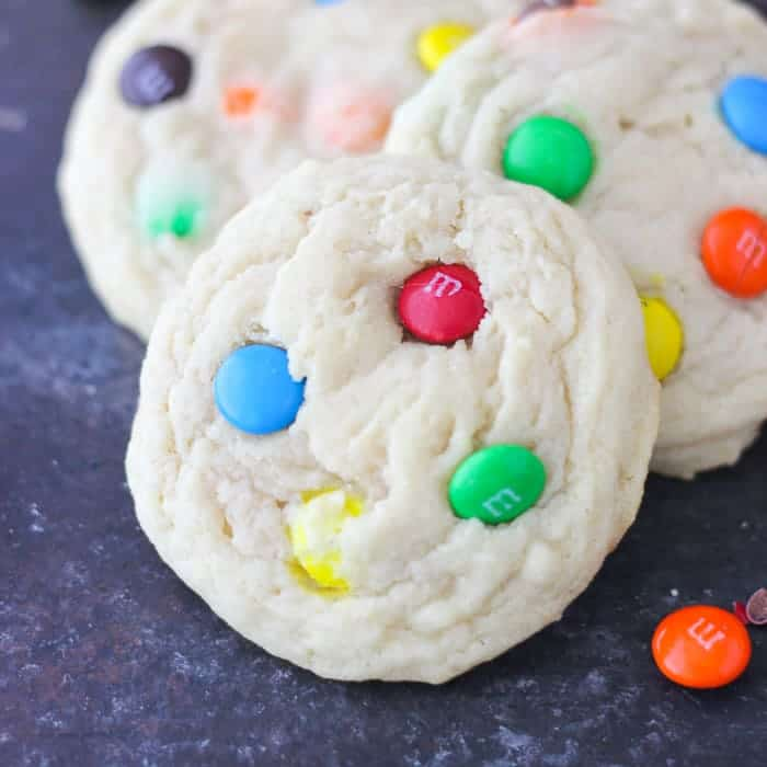 Perfectly Soft and Chewy MnM Cookies