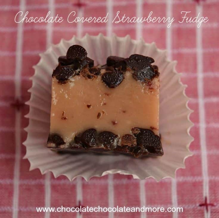 Chocolate Covered Strawberry Fudge