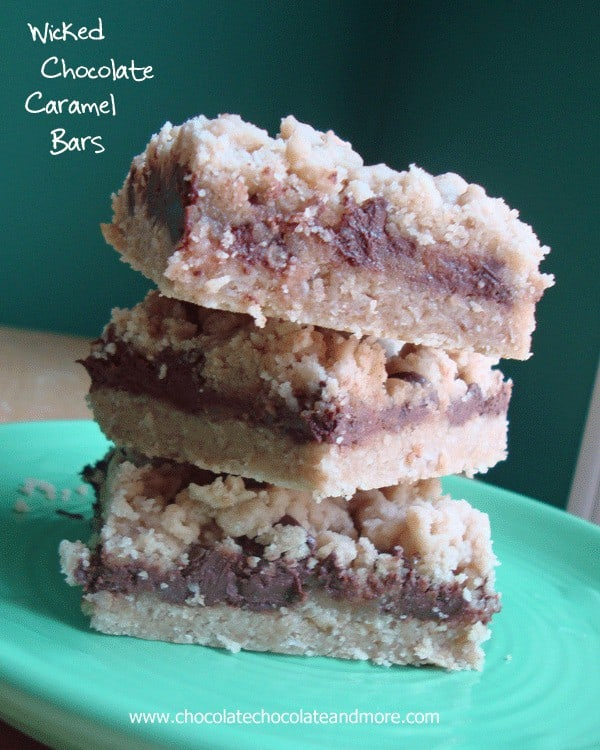 Wicked Chocolate Caramel Bars