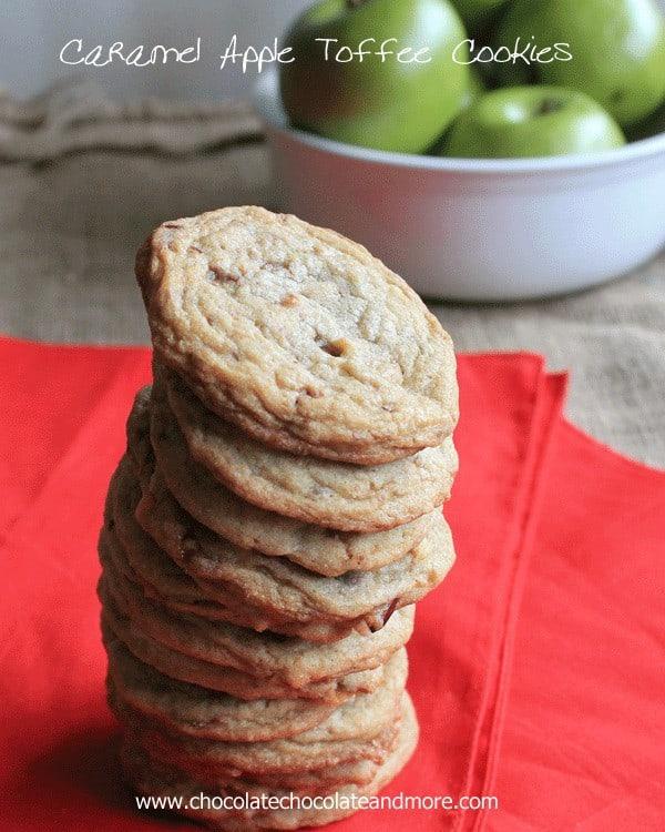 Caramel Apple Toffee Cookies