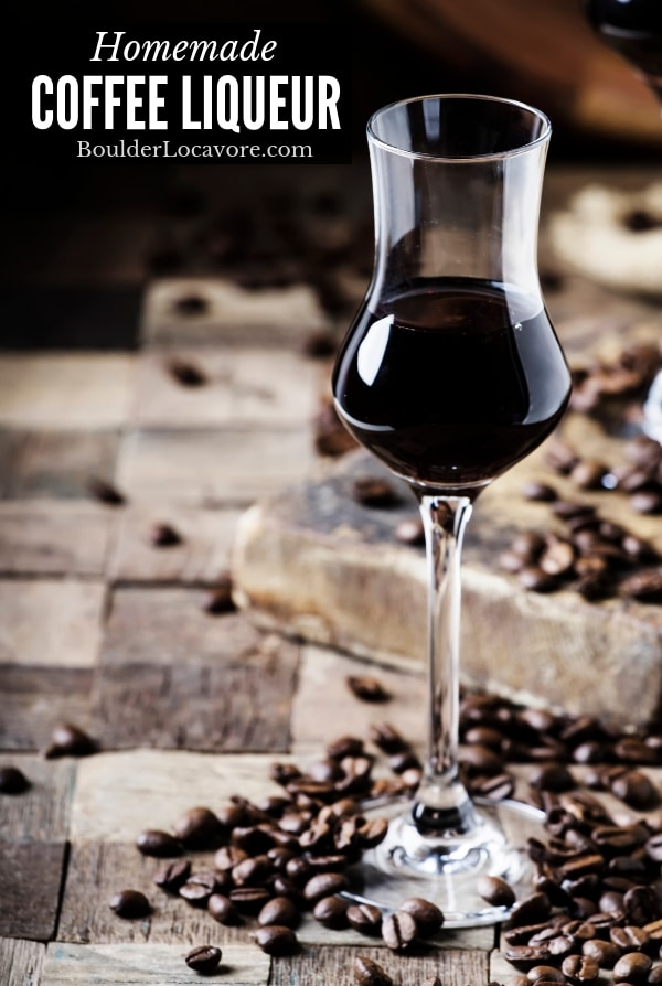 Homemade Coffee Liqueur is easy and affordable to make.