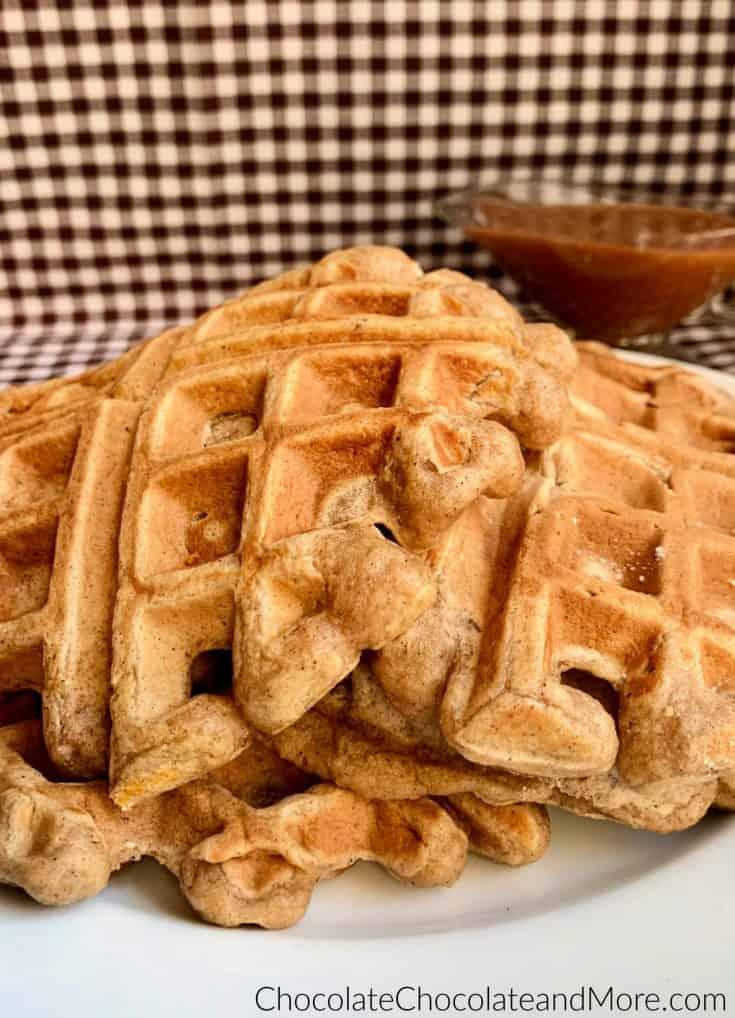 Cinnamon Applesauce Waffles