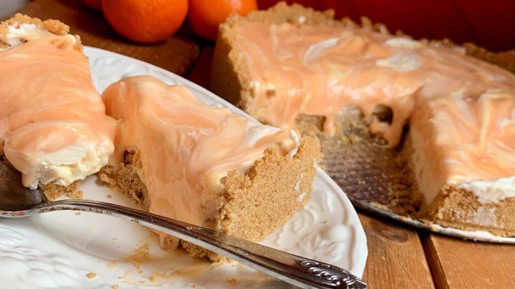 Orange Creamsicle Swirl Cheesecake