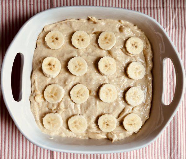 The Banana Pudding Bars with the 2nd layer of bananas.