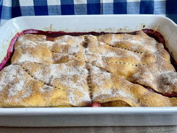 Large Baking Dish of Crescent Fruit Cobbler